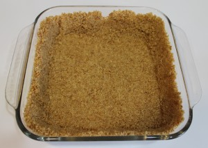 Graham cracker crust ready for filling