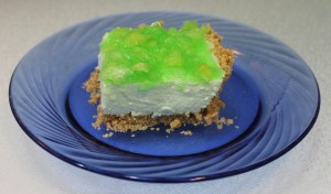 Pineapple Lime jello dessert